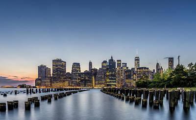 New York City Dusk Original by Rafael Quirindongo