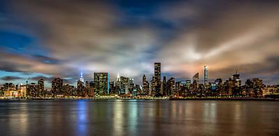 New York City Evening Skyline  Original by Rafael Quirindongo