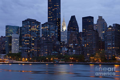 New York City From Across The Water Print by Bryan Mullennix