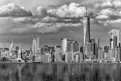 Statue Of Liberty Photograph - New York City Icons II Bw by Susan Candelario
