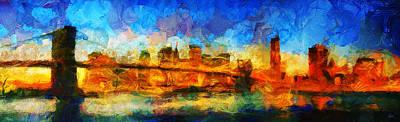 New York - City Limits - Painting - Sir Josef Putsche Original by Sir Josef Social Critic - ART