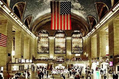 New York City Midtown Manhatten Grand Central Terminal 20160215 Print by Wingsdomain Art and Photography