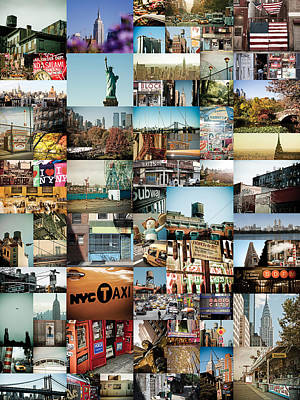 New York City Montage 2 Print by Darren Martin