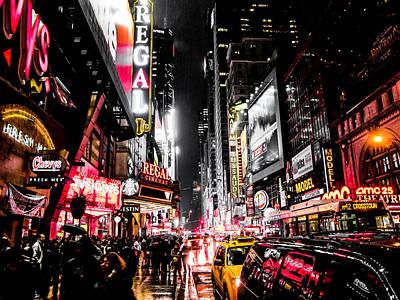 Sign Digital Art - New York City Night II by Nicklas Gustafsson