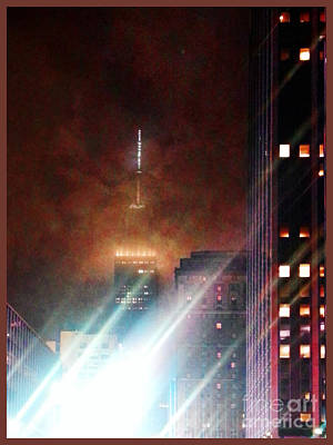New York City Night Print by Joseph J Stevens