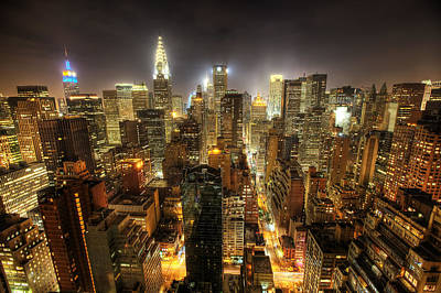 Skylines Photograph - New York City Night by Shawn Everhart