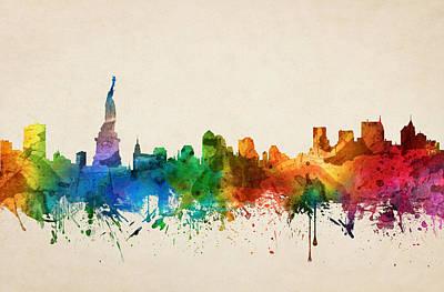 Cities Digital Art - New York City Skyline 05 by Aged Pixel