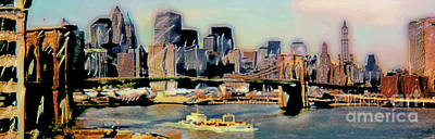 New York City Skyline Original by Heather Blanton