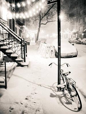 New York City - Snow Print by Vivienne Gucwa