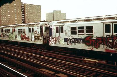 New York City Subway. A Graffiti Print by Everett
