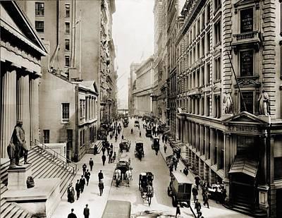 New York Citys Wall Street, Looking Print by Everett