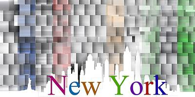 3d Digital Art - New York Colorist Shadows by Alberto RuiZ