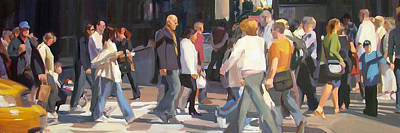 Central Park Painting - New York Crosswalk by Merle Keller