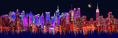 Chrysler Building Mixed Media - New York by Edelberto Cabrera