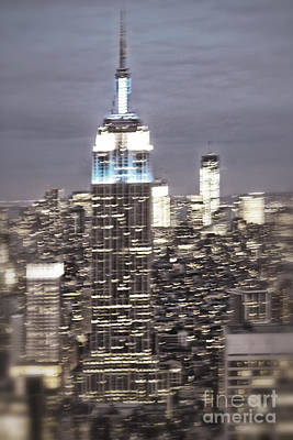 Photograph - New York Empire State Building Blurred  by Juergen Held