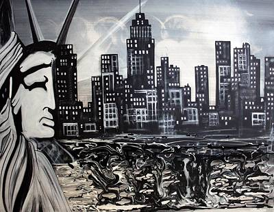 Statue Of Liberty Mixed Media - New York Escape by Laura Barbosa