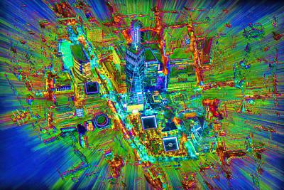 New York Freedom Tower Lower Manhattan 2 Print by Tony Rubino
