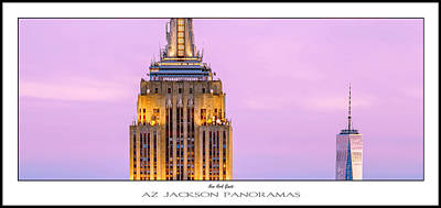 New York Skyline Photograph - New York Giants Poster Print by Az Jackson
