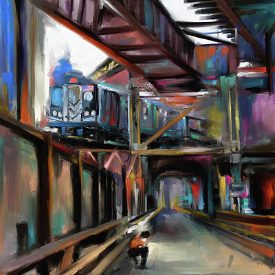 Urban Subway Painting - New York I 465 I by Mawra Tahreem