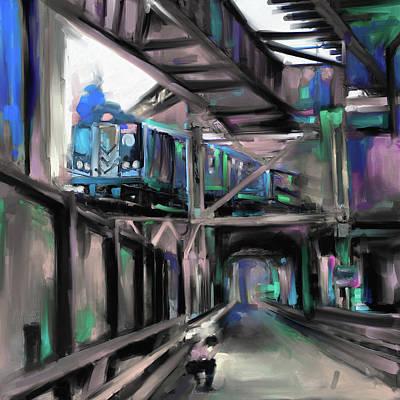 Urban Subway Painting - New York I 465 IIi by Mawra Tahreem