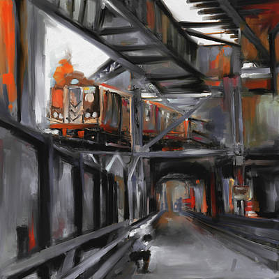 Urban Subway Painting - New York I 465 Iv by Mawra Tahreem