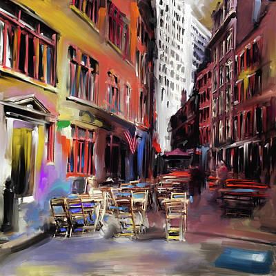 Urban Subway Painting - New York II 466 1 by Mawra Tahreem