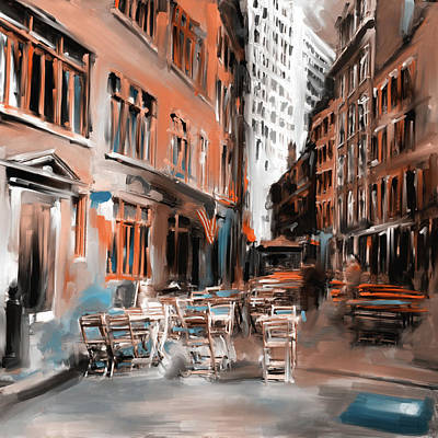 Urban Subway Painting - New York II 466 II by Mawra Tahreem