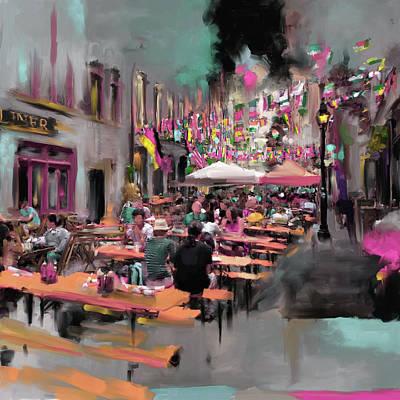Urban Subway Painting - New York IIi 467 Iv by Mawra Tahreem