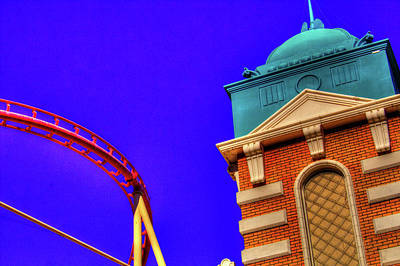 Rollercoaster Photograph - New York In Las Vegas by Roger Passman