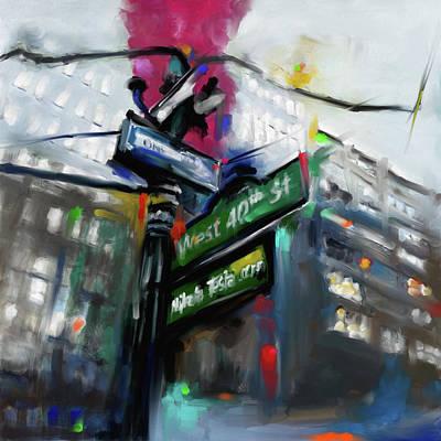 Urban Subway Painting - New York Iv 468 1 by Mawra Tahreem