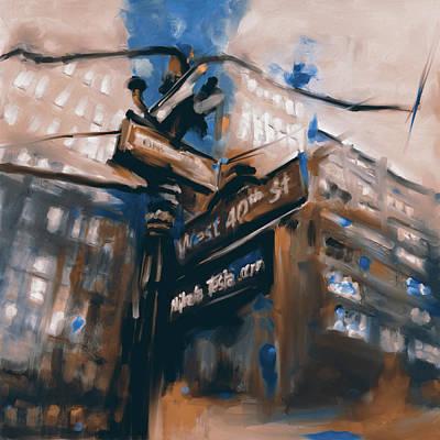 Urban Subway Painting - New York Iv 468 II by Mawra Tahreem