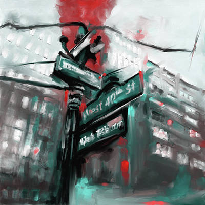 Urban Subway Painting - New York Iv 468 IIi by Mawra Tahreem