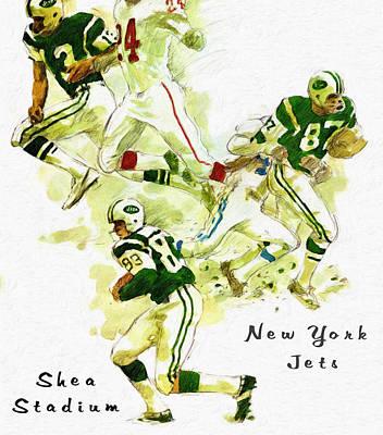 New York Jets 1960's Artwork Print by Big 88 Artworks