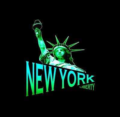 Buy Tshirts Tapestry - Textile - New York Liberty Tshirt Design by Art America Online Gallery
