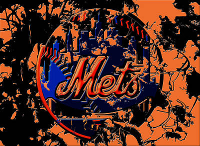 Oriole Mixed Media - New York Mets 6c by Brian Reaves