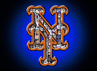 New York Mets Print by Fairchild Art Studio