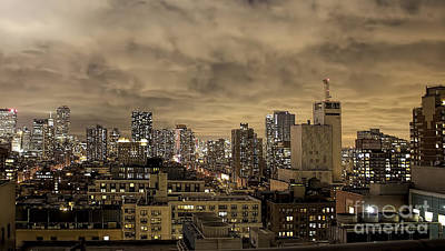 New York Moody Evening Print by Luther Fine Art
