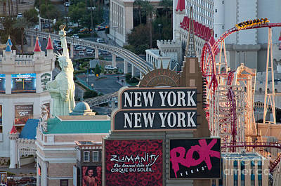 Rollercoaster Photograph - New York New York Strip by Andy Smy