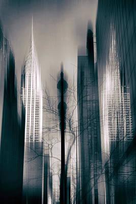 Towns Digital Art - New York Noir 2 by Jessica Jenney