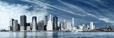 Brooklyn Bridge Mixed Media - New York One by Melissa Smith