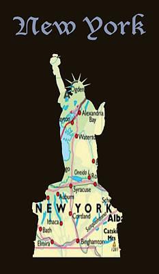 Isolated Digital Art - New York by Art Spectrum