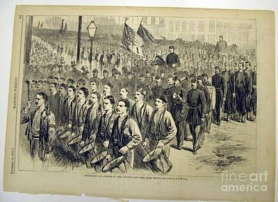 New York State Militia Print by Evacuation Day Parade