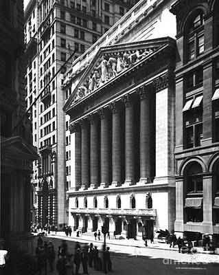 Photograph - New York Stock Exchange by Photo Researchers