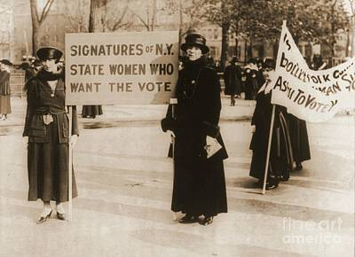 Womens Photograph - New York Suffragettes by Padre Art