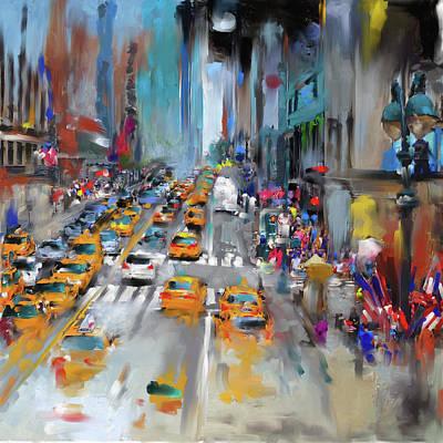 Urban Subway Painting - New York V 469 1 by Mawra Tahreem