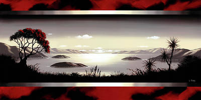 Valleys And Peaks Painting - New Zealand Lyttelton By Linelle Stacey by Linelle Stacey
