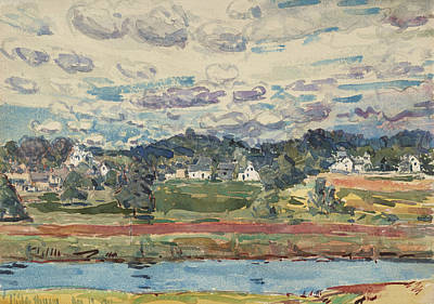 New Hampshire Painting - Newfields, New Hampshire by Childe Hassam