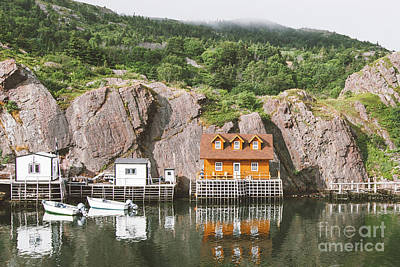 Photograph - Newfoundland Boat House In Quidi Vidi Harbour by Christy Woodrow