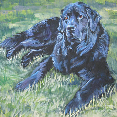 Newfoundland Puppy Painting - Newfoundland by Lee Ann Shepard