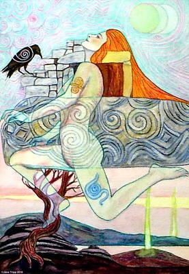 Colored Pencil Painting - Newgrange by Jane Tripp